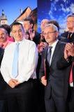 Zwycięzca Ponta Dragnea i Liviu Fotografia Stock