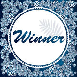 Zwycięzca Prezenta sztandar dla ogólnospołecznych medialnych konkursów Zdjęcie Royalty Free