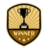 Zwycięzca retro etykietka Zdjęcie Stock