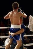 Zwycięzcy amator i Fachowy boks obrazy stock
