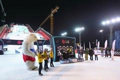Zwycięzcy menat Snowboard puchar świata Fotografia Royalty Free