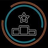 Zwycięzcy podium ikona, najpierw umieszcza nagrodę, sukcesu symbol royalty ilustracja