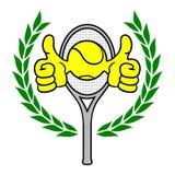 Zwycięzcy tenis Zdjęcie Royalty Free
