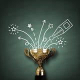 Zwycięzcy trofeum Zdjęcie Royalty Free