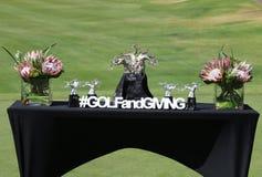 Zwycięzcy trofeum stołu Gary gracza dobroczynność Zachęcający 2015 Obrazy Stock