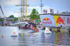 Zwycięzcy w Red Bull Flugtag Varna Bułgaria Fotografia Stock