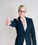 Zwycięska biznesowa kobieta. Zdjęcie Stock