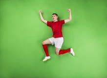 Zwycięski gracz futbolu Fotografia Stock