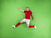 Zwycięski gracz futbolu Obraz Royalty Free