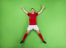 Zwycięski gracz futbolu Zdjęcie Royalty Free