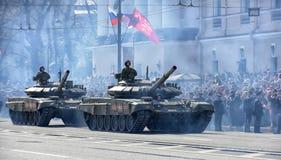 Zwycięstwo dnia Militarna parada Zdjęcie Stock