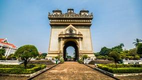 Zwycięstwo zabytek w Vientiane, Laos Fotografia Royalty Free