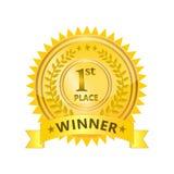 Zwycięzca odznaka Fotografia Stock