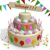 Zwycięzcy tort Zdjęcia Stock