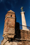 Zwycięzcy zabytek, symbol Belgrade Obrazy Stock