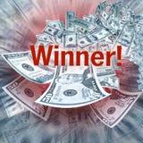 zwycięstwo pieniądze Obrazy Royalty Free