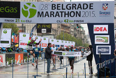 Zwycięzca maraton dla mężczyzna Zdjęcia Stock