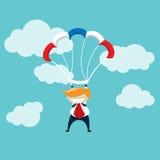 Zwycięzcy spadochron Obraz Royalty Free