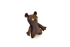 Zwyczaj handcrafted faszerujący skóry zabawki szczęśliwy mutt - opuszczać Obrazy Royalty Free