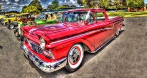 Zwyczaj malująca 1950s amerykanina Ford furgonetka Zdjęcie Royalty Free