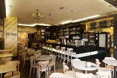 Zwyczajna kawiarnia w Logrono Zdjęcie Royalty Free