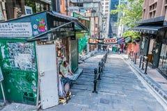 Zwyczajna ulicy Soho centrala Hong Kong obrazy stock