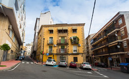 Zwyczajne ulicy przy Plasencia Extremadura, Hiszpania Fotografia Stock