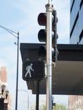 Zwyczajny crosswalk znak Zdjęcia Royalty Free