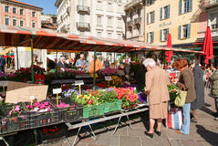 Zwyczajny kwadrat w centrum Lugano Obraz Stock