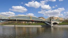 Zwyczajny most Bogdan Khmelnitsky w Moskwa Zdjęcie Royalty Free