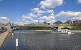 Zwyczajny most Bogdan Khmelnitsky w Moskwa Obraz Stock