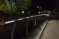 zwyczajny most przy nocą w południowym niemieckim mieście blisko Stuttgart w zdjęcie royalty free