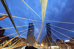 Zwyczajny most w Bilbao, Hiszpania Obraz Royalty Free