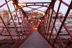 Zwyczajny most w Girona, Hiszpania Obraz Royalty Free