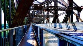 Zwyczajny skrzyżowanie wśrodku Quebec mosta obraz royalty free