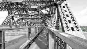 Zwyczajny skrzyżowanie wśrodku Quebec mosta zdjęcia royalty free
