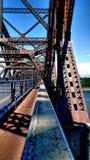 Zwyczajny skrzyżowanie wśrodku Quebec mosta obrazy royalty free