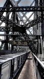 Zwyczajny skrzyżowanie wśrodku Quebec mosta obraz stock