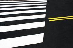 Zwyczajny skrzyżowanie lub zebra Zdjęcia Stock