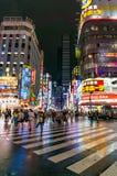 Zwyczajny skrzyżowanie przy Kabukicho Ichibangai w Shinjuku Obraz Royalty Free