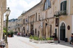 Zwyczajny teren w Matera zdjęcia royalty free