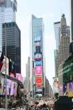 Zwyczajny times square w Nowy Jork w dniu zdjęcia stock