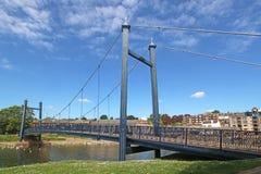 Zwyczajny zawieszenie most przy Exeter Quay zdjęcie royalty free