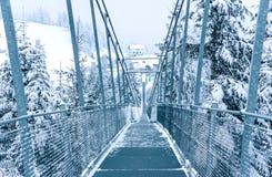 Zwyczajny zawieszenie most w Szwajcaria obrazy royalty free