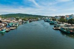 Zwykłe życie Vietnams fisher Zdjęcia Royalty Free
