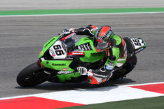 Zx-10R Rennend Team Tom Sykes - Kawasaki Royalty-vrije Stock Afbeelding