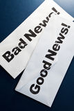 zły dobre wieści Fotografia Royalty Free