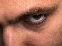 Zły przyglądający mężczyzna Fotografia Stock