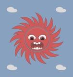 zły słońce Obraz Royalty Free
