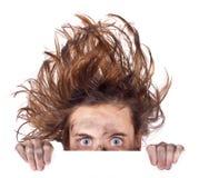 zły sztandaru dzień włosy Obrazy Stock